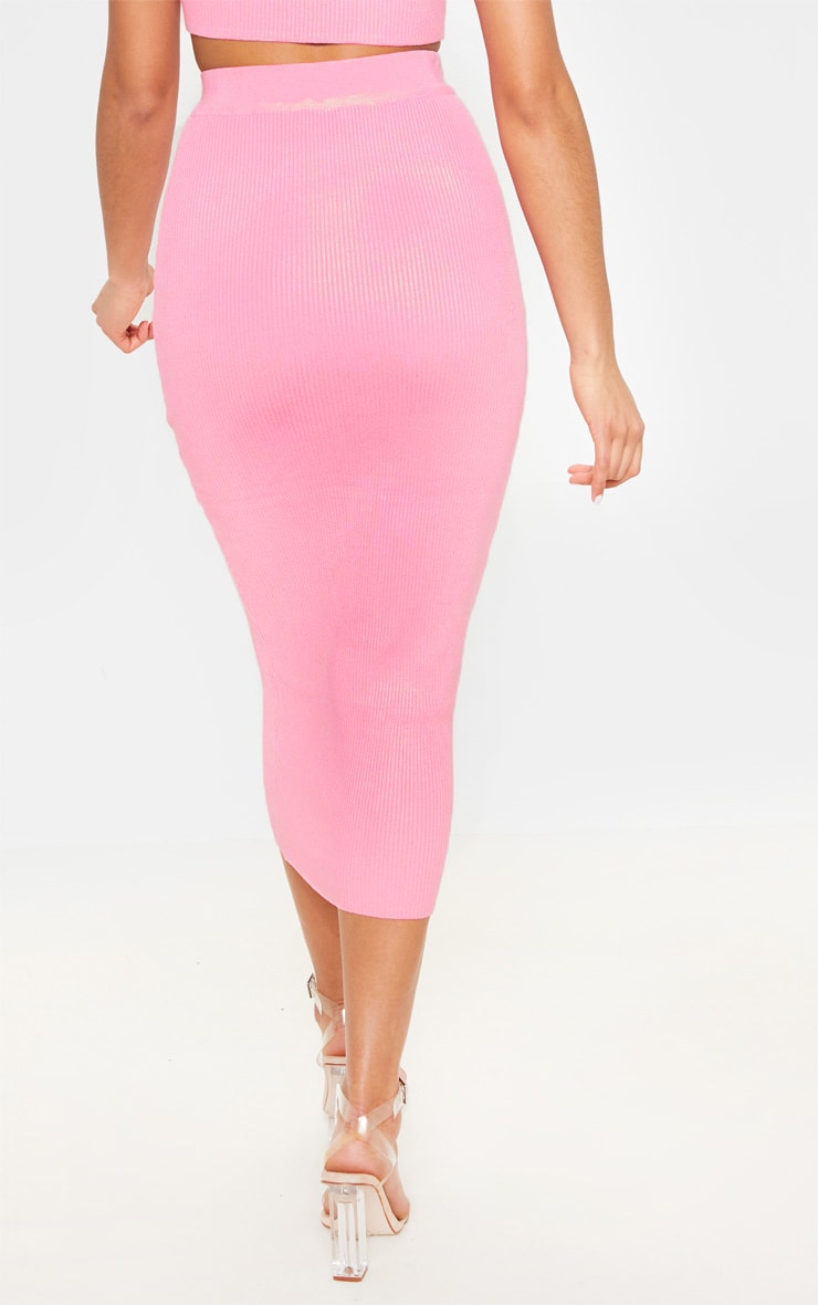 Baby Pink Knitted Ribbed Co Ord  6