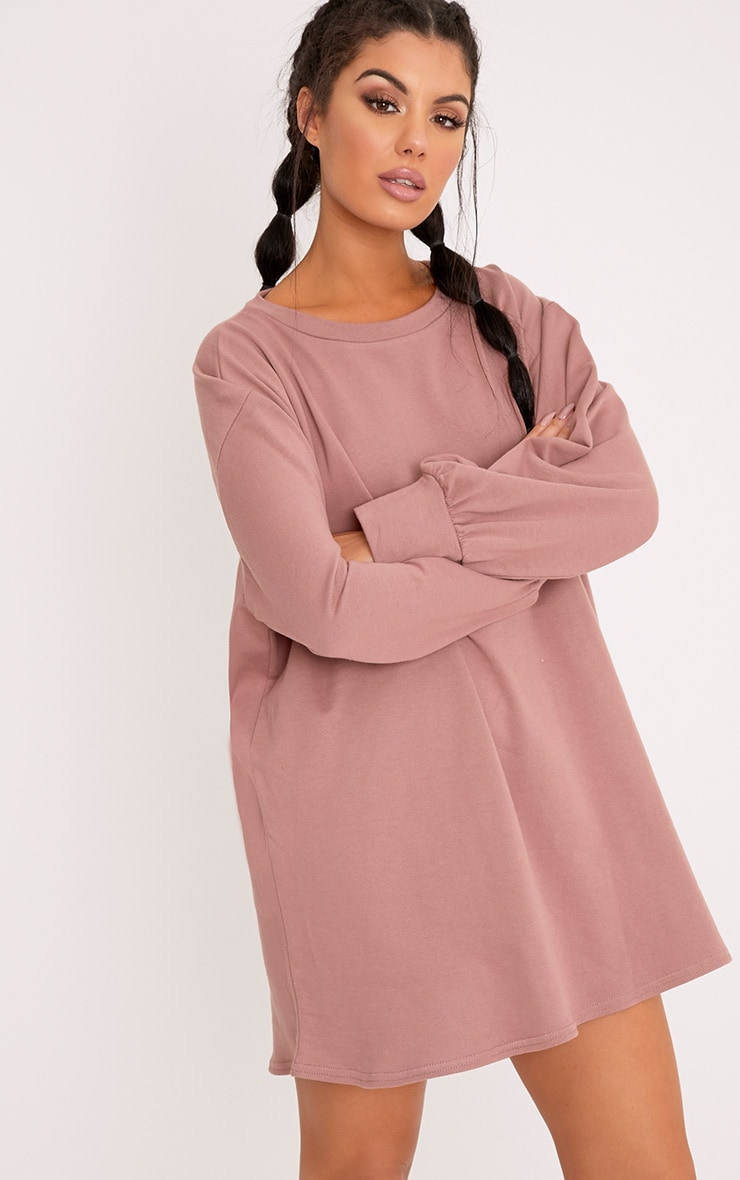 Dark Mauve Oversized Sweater Dress 4
