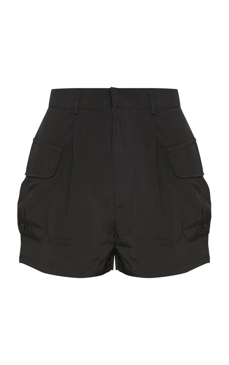Black Cargo Pocket Detail Short 3