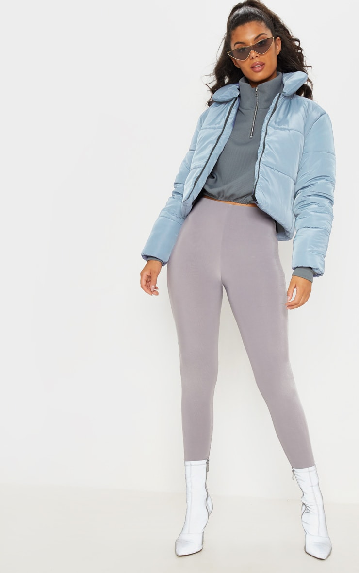 Blue Cropped Puffer 1