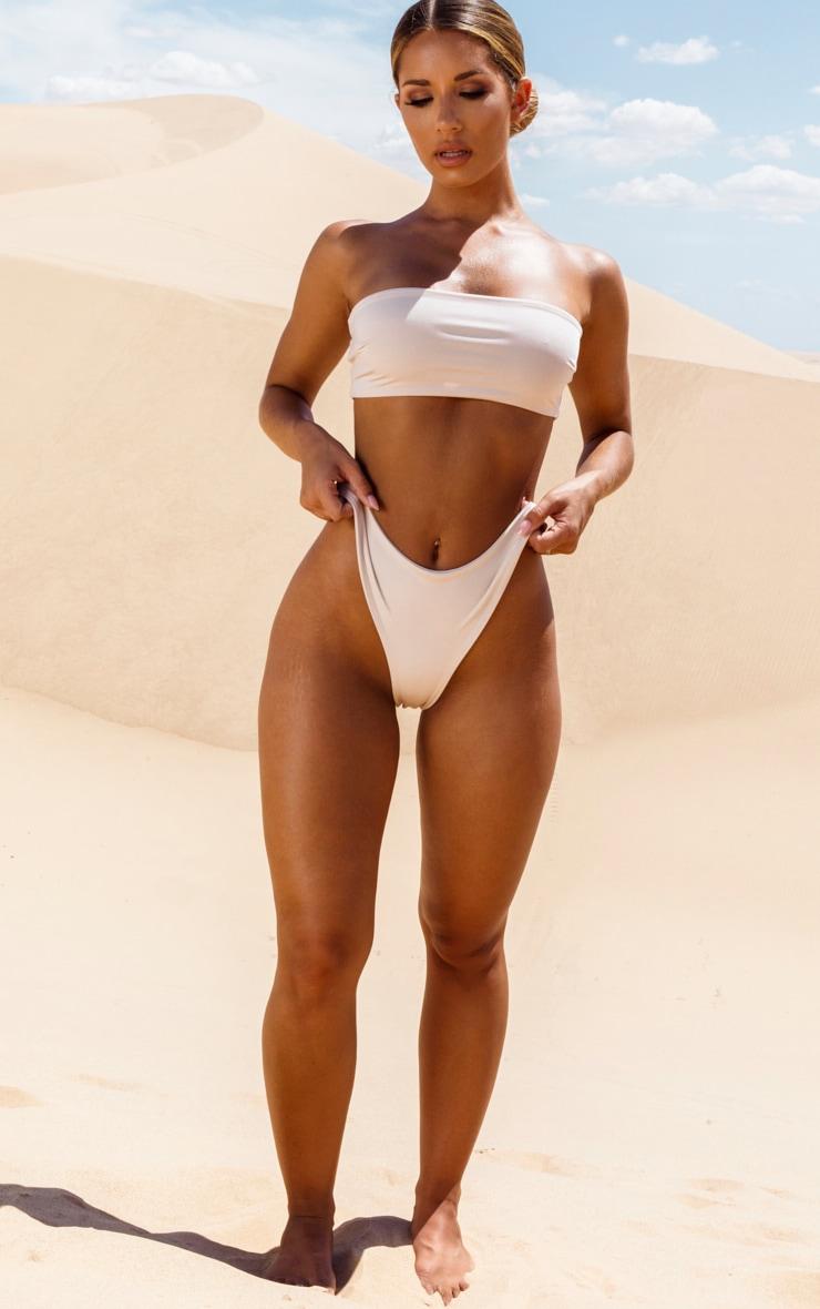 Nude Bandeau Bikini Top 4
