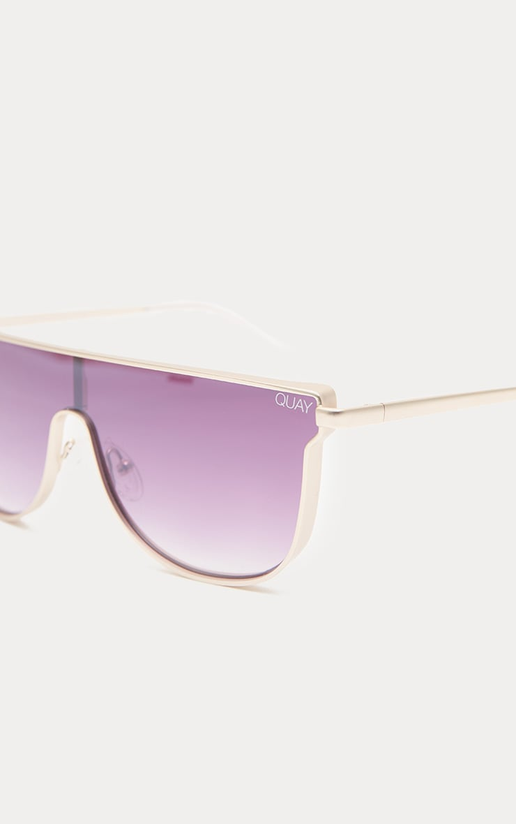 QUAY AUSTRALIA Silver Hindsight Flat Top Sunglasses 3