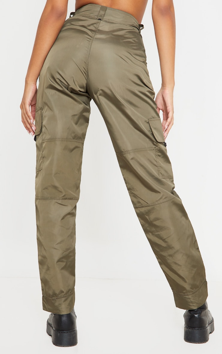 Khaki Shell Straight Cargo Pocket Jogger 4