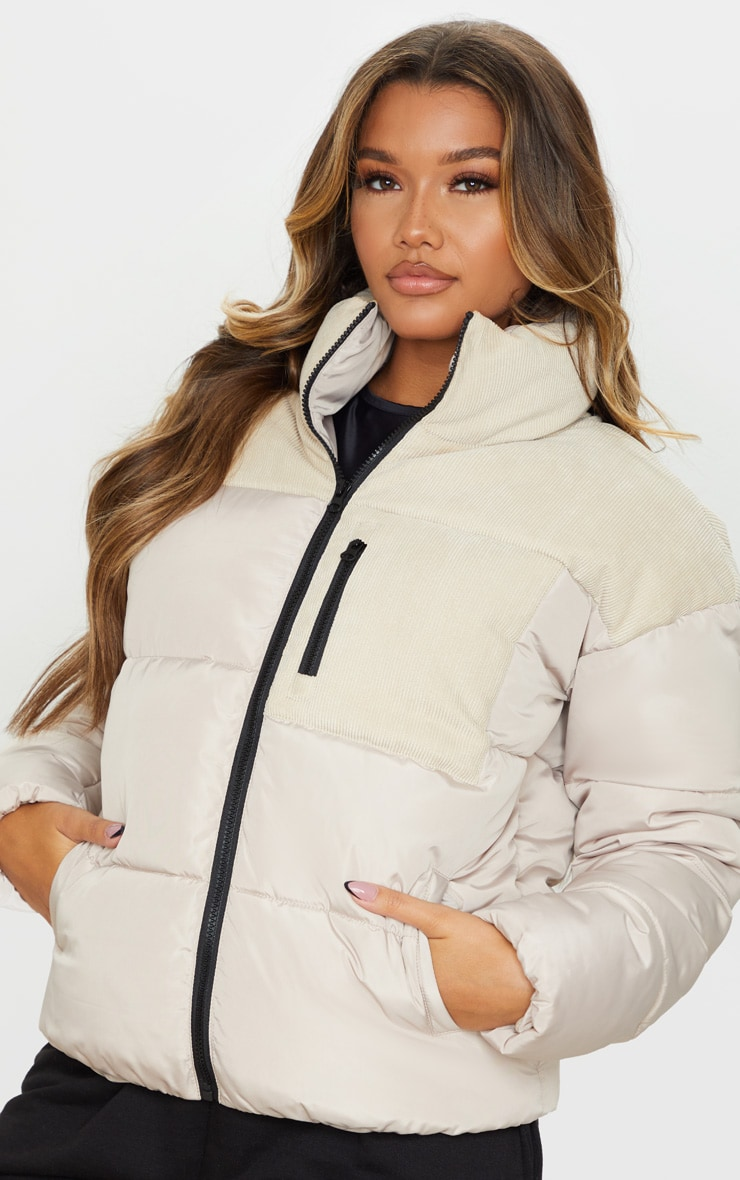 Stone Cord Contrast Pocket Puffer 4