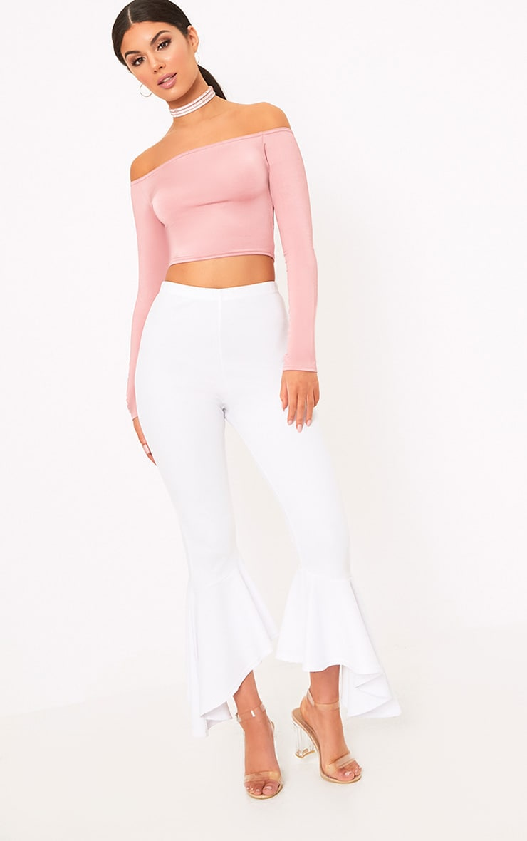 Alivia Rose Disco Slinky Bardot Longsleeve Crop Top 4
