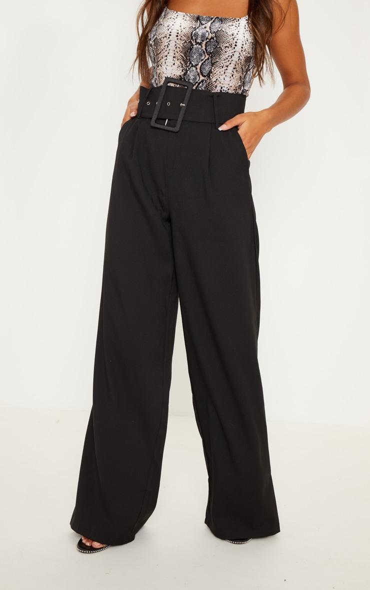 pantalon ample noir taille tr s haute pantalons. Black Bedroom Furniture Sets. Home Design Ideas