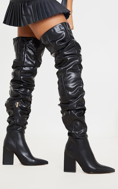 Thigh High Boots Over The Knee Boots Prettylittlething Aus