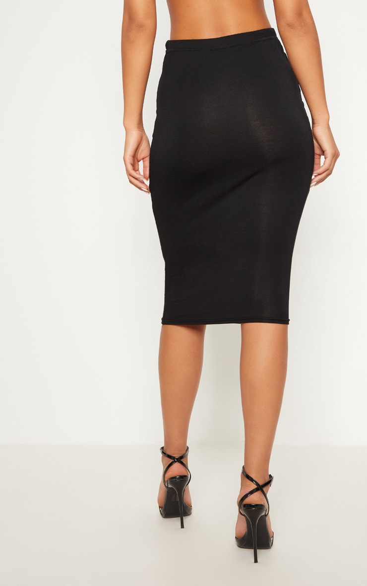 Basic Black Midi Skirt 5