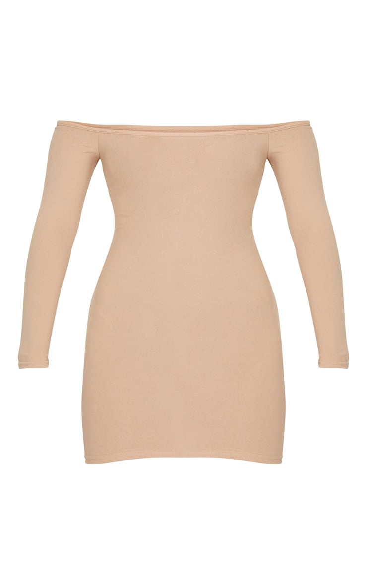 Stone Bardot Bodycon Dress 5