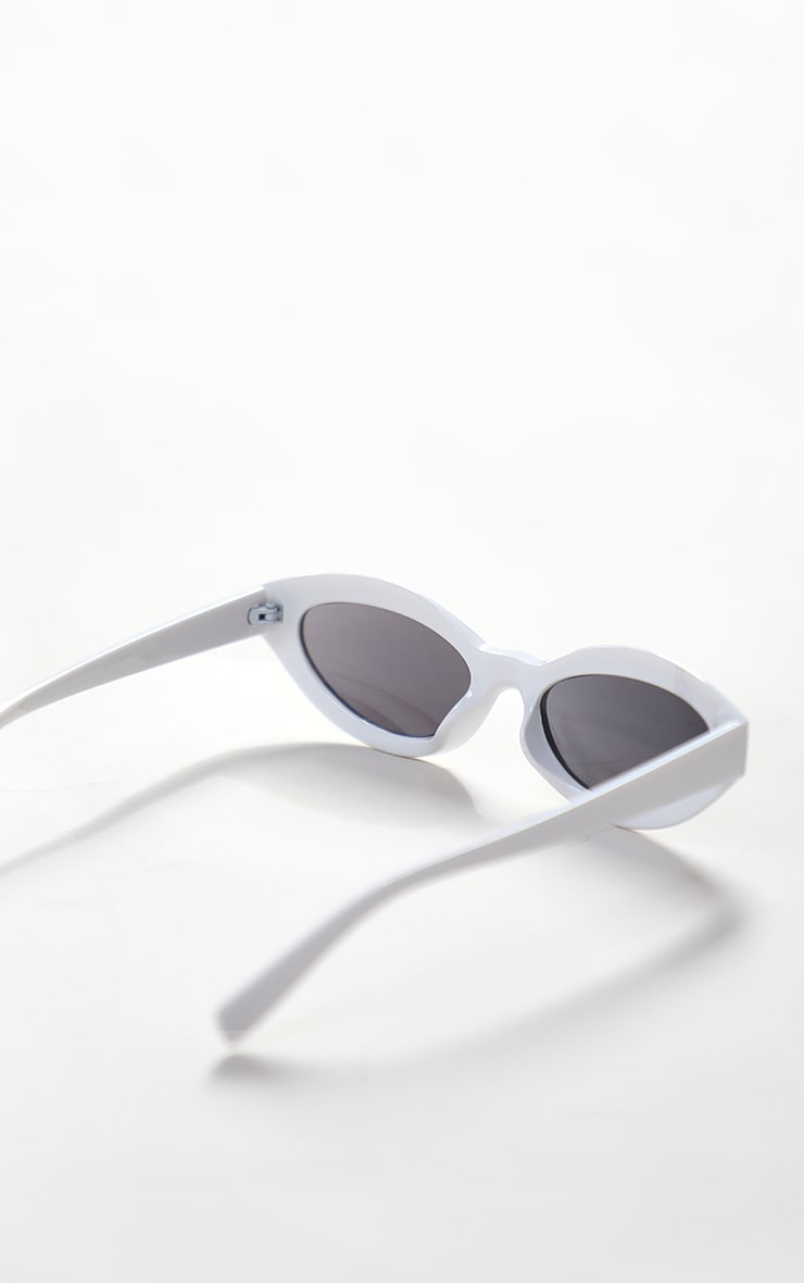 White Round Frame Sunglasses 3