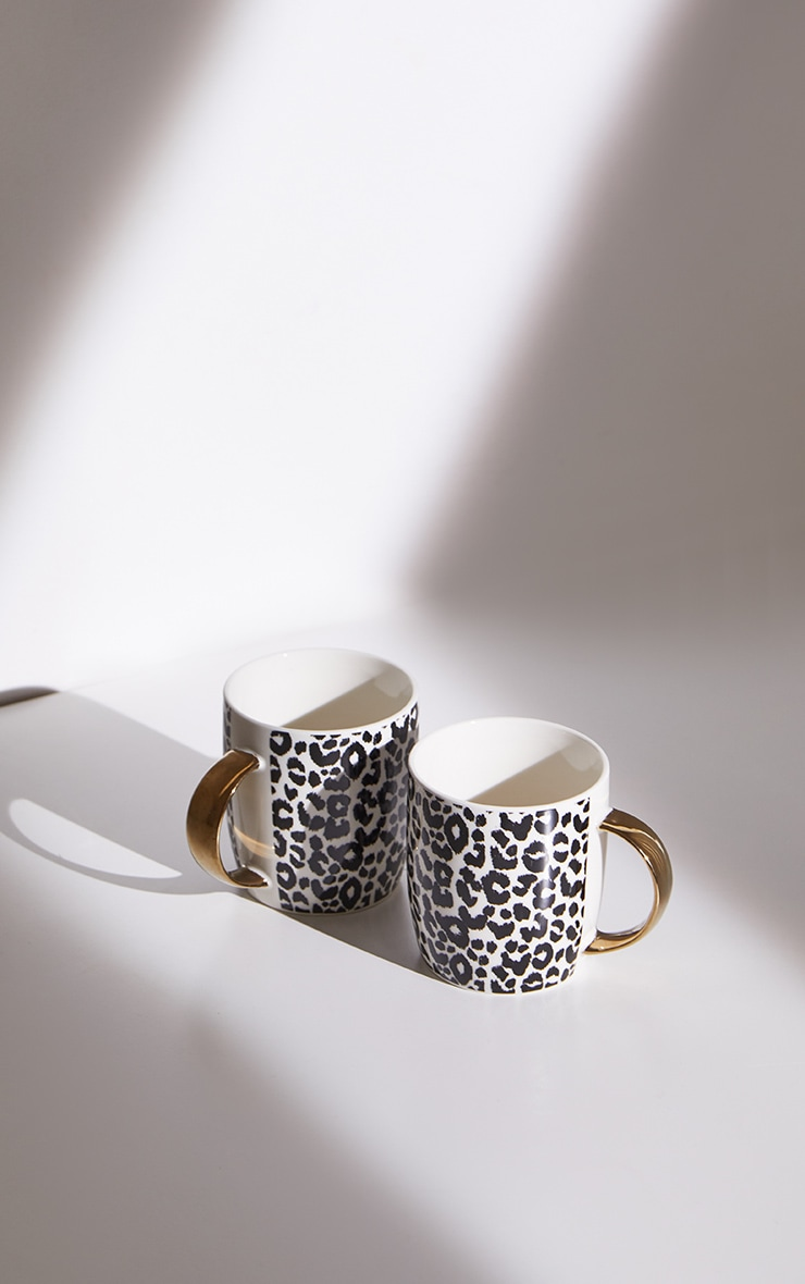 Leopard Print 2 Pack Mugs 4