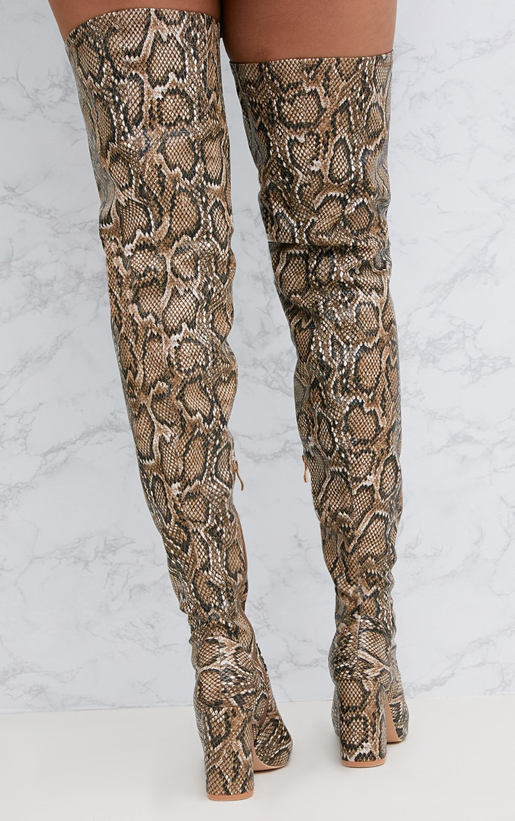 Snake PU Thigh Boot 4
