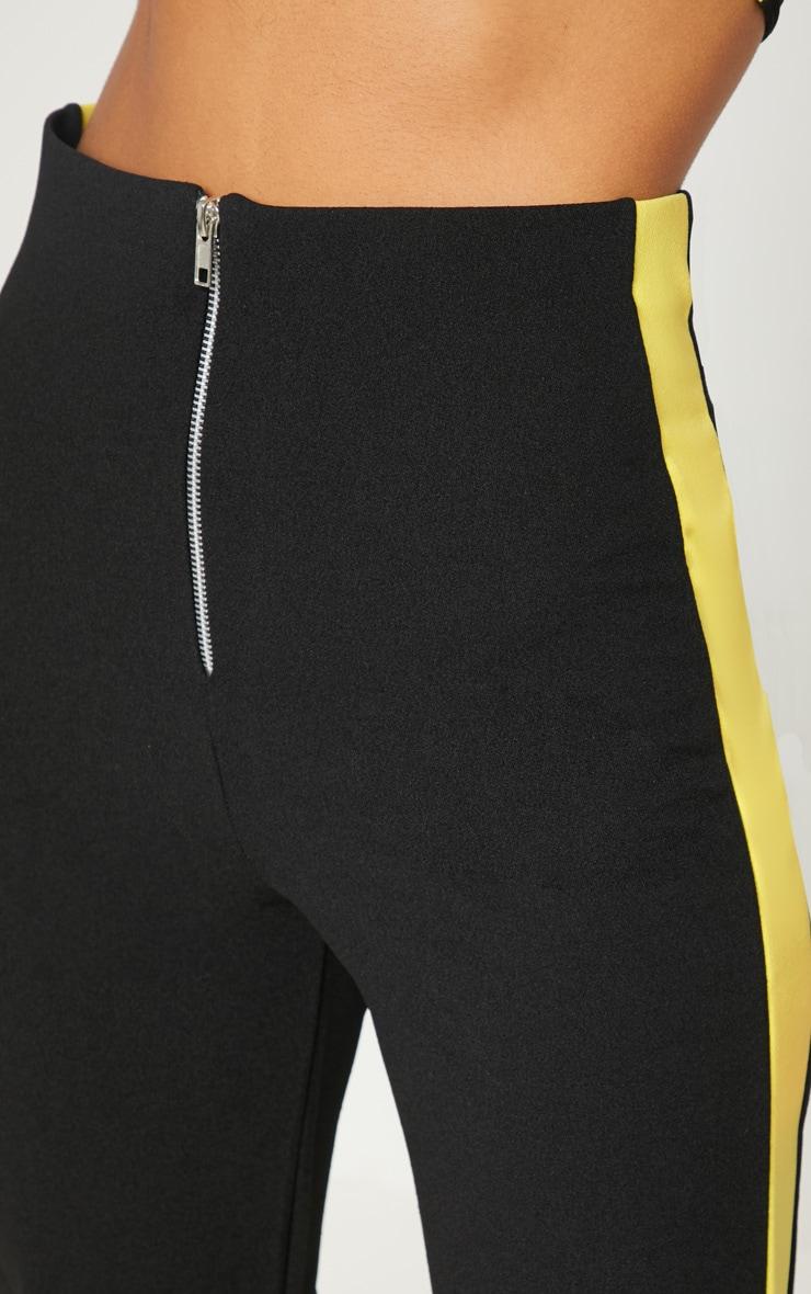 Black High Waisted Side Stripe Trouser 5