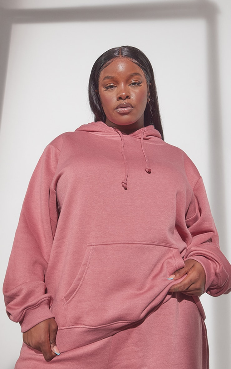 RENEW Plus Washed Red Oversized Hoodie 1