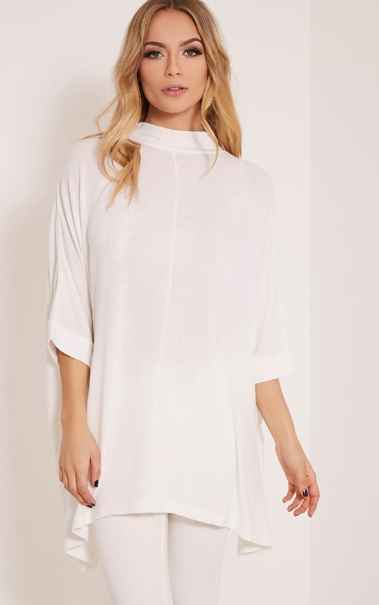 Lottia Cream Oversized Batwing Jumper 1
