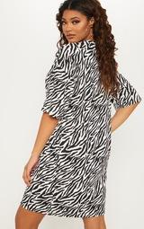 Tall Zebra Print Oversized T-Shirt Dress image 2 edd2770e8