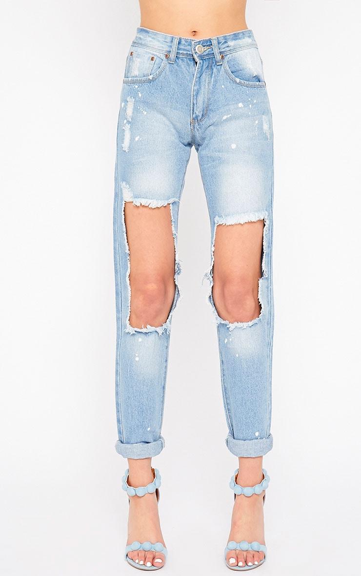 Karen Blue Hole Front Jeans 2
