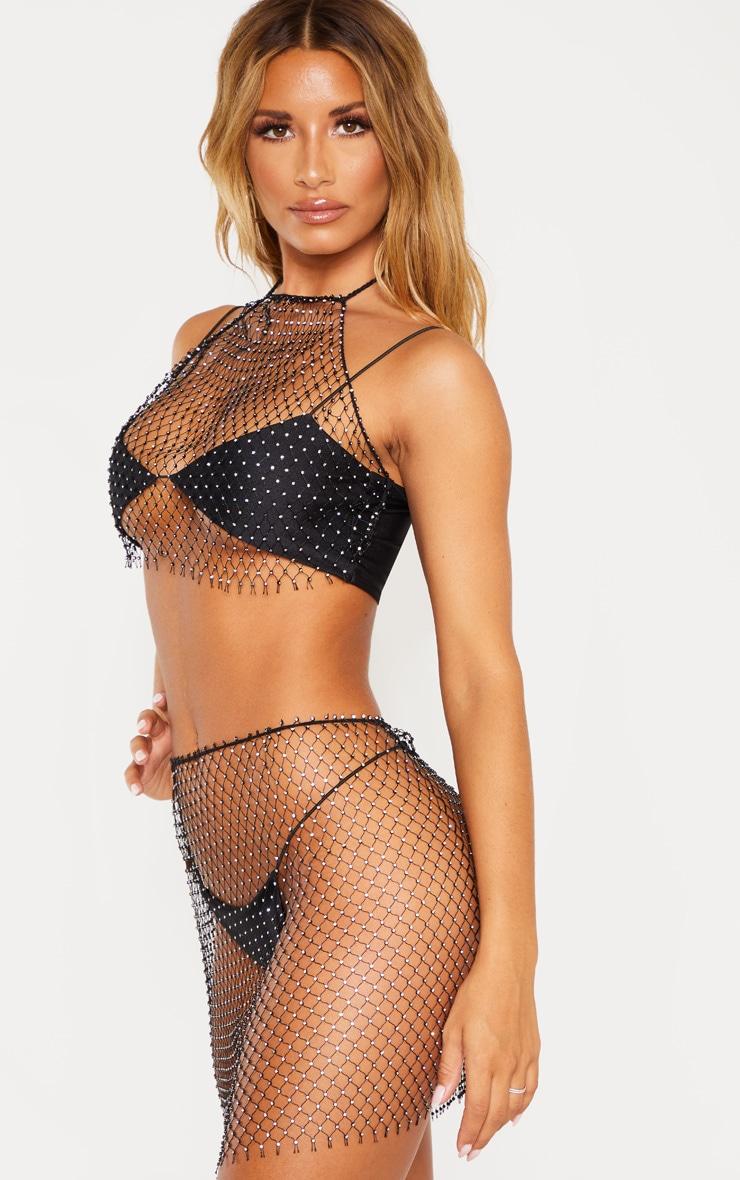 Black Diamante Net Skirt Body Jewellery 2