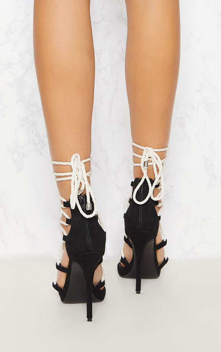 Mono Ghillie Tassel Rope Strappy Sandal 4