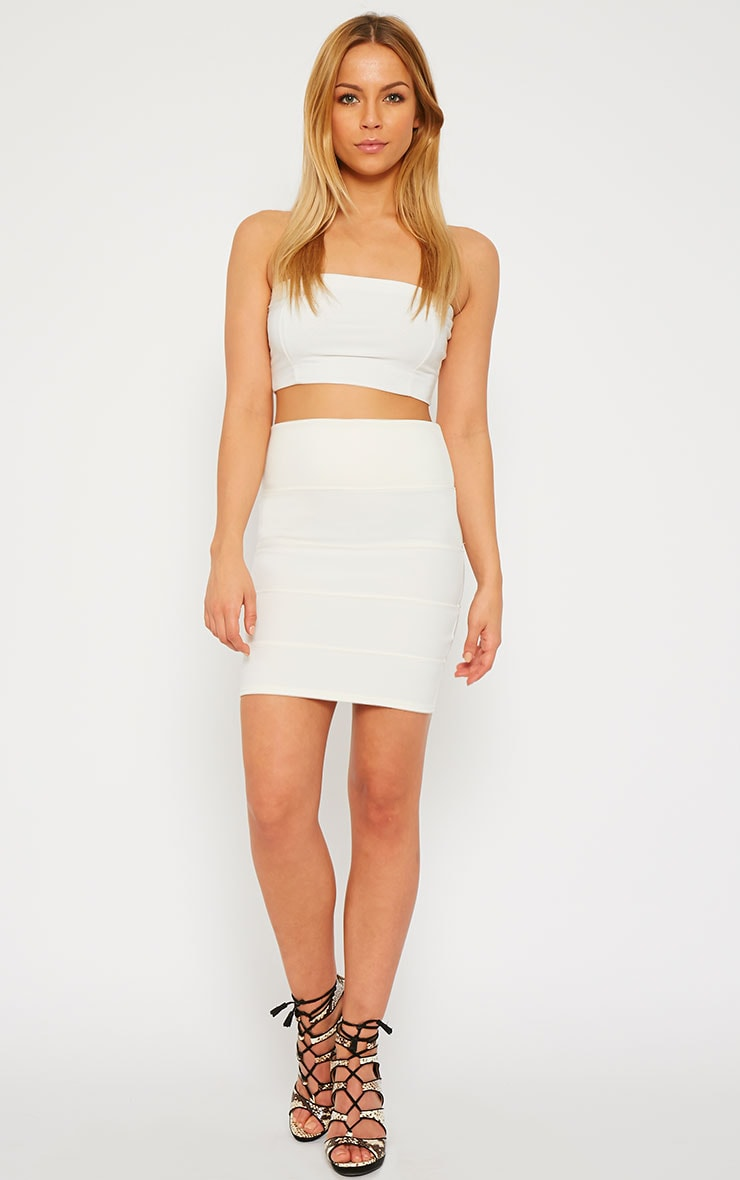 Anel Cream Bandage Mini Skirt  6
