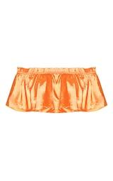 a57f6e9bcf0c9 Petite Orange Frill Bardot Crop Top image 3