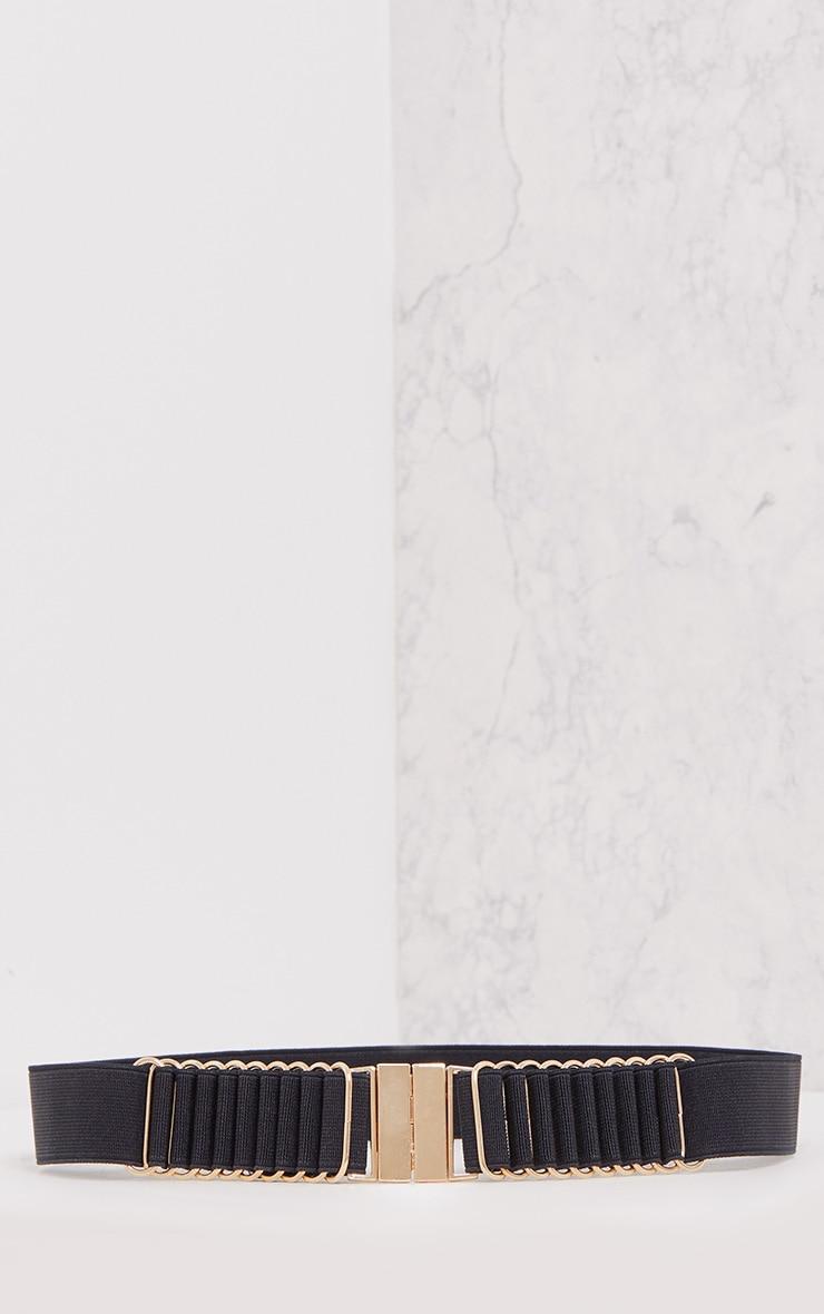 Delphy Black Plaited Detail Belt 3