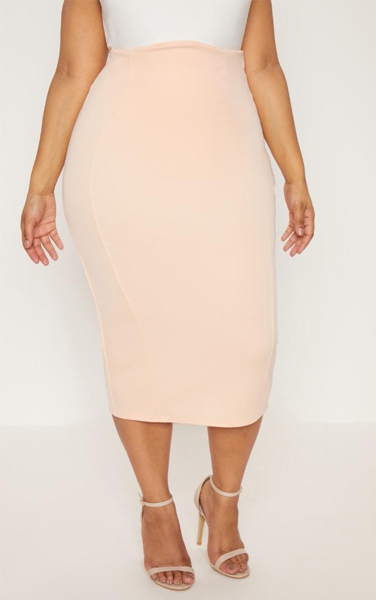 Plus Nude Extreme High Waist Midi Skirt 2
