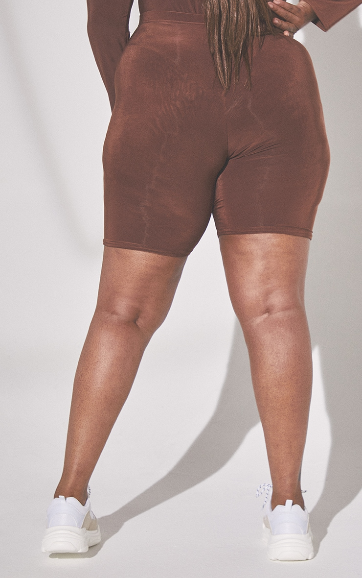Plus Second Skin Espresso Cycle Shorts 3
