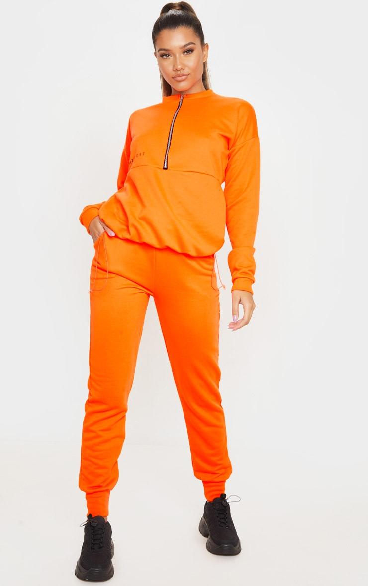Orange Basic Gym Sweat Jogger 1