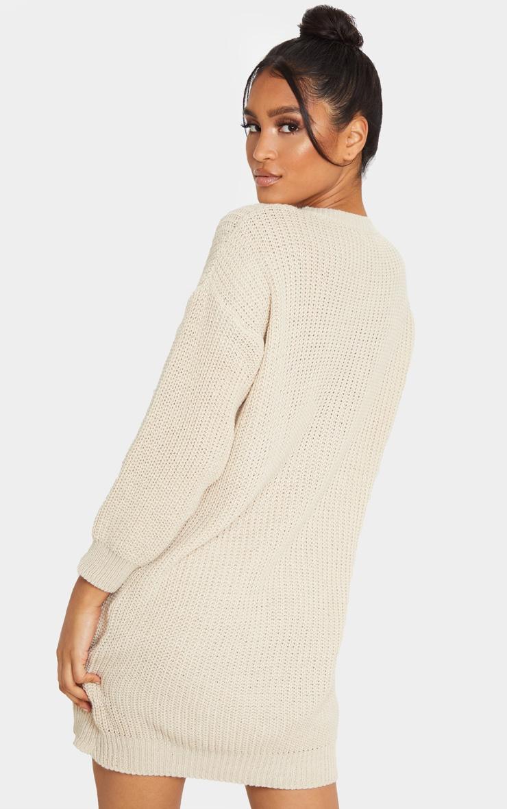 Stone Basic Knit Sweater Dress 2