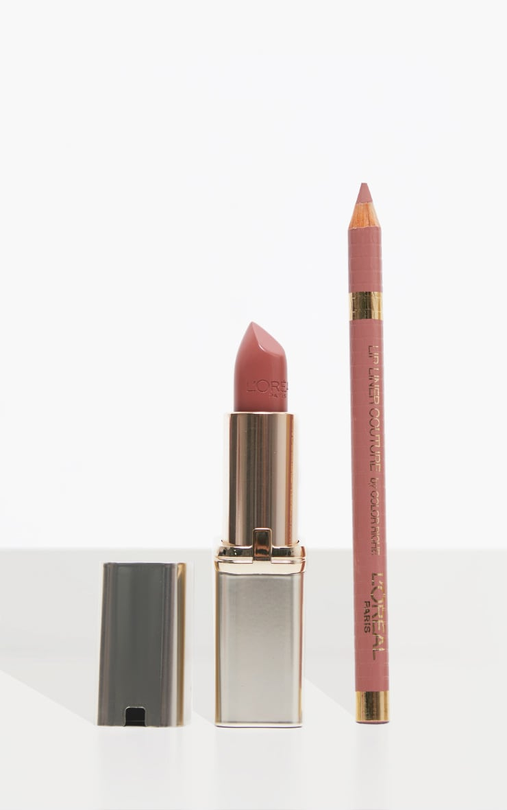 L'Oreal Paris Color Riche Satin Nude Lipstick & Lip Liner Gift Set 1