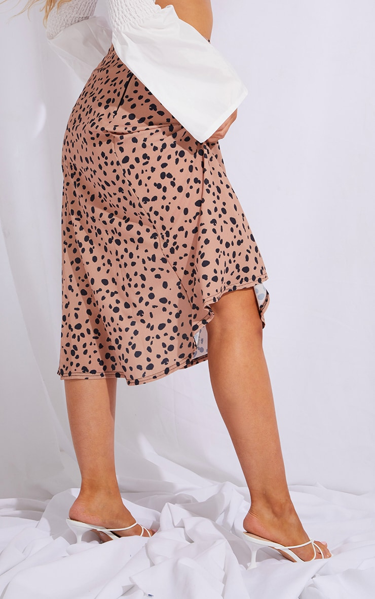 Tan Dalmatian Floaty Midi Skirt 3