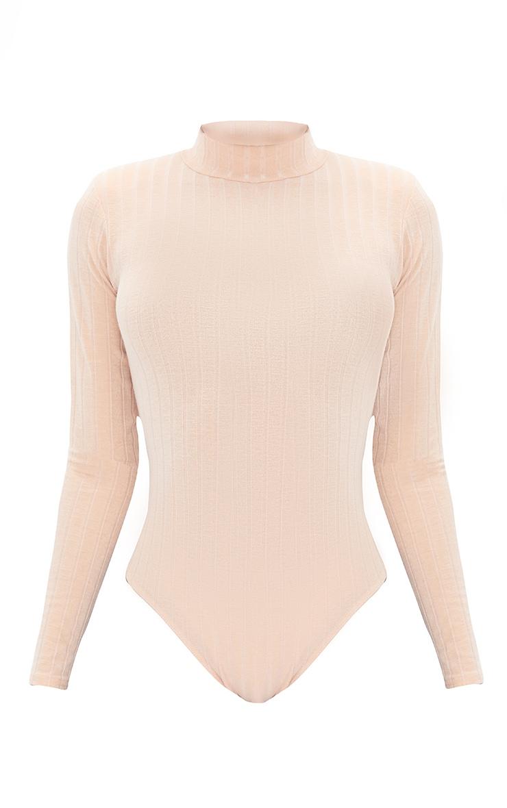 Tall Stone Wide Rib Shoulder Pad Long Sleeve Bodysuit 5