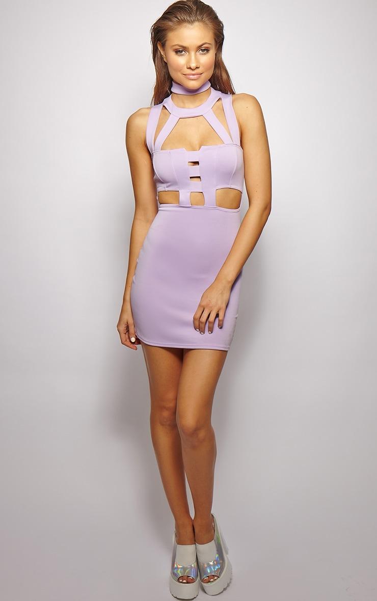 Xirena Lilac Caged Mini Dress 3