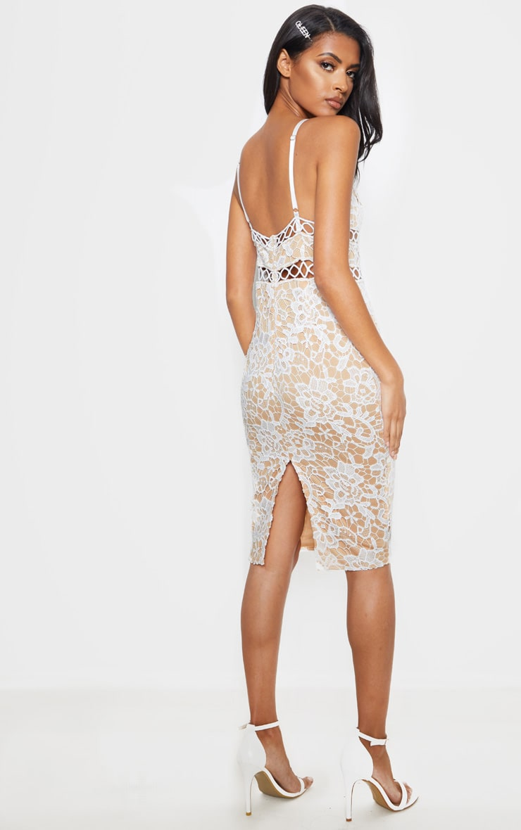White Lace Cami Midi Dress 2