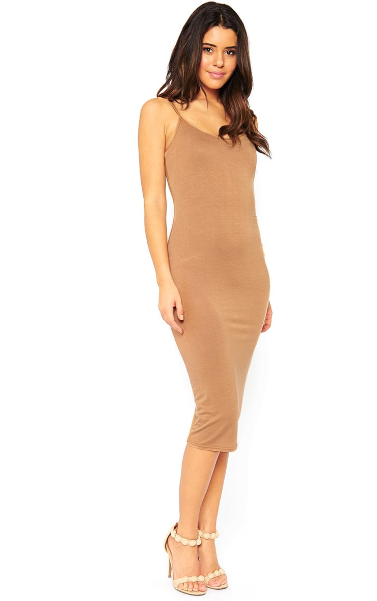Basic Camel Midi Vest Dress 4