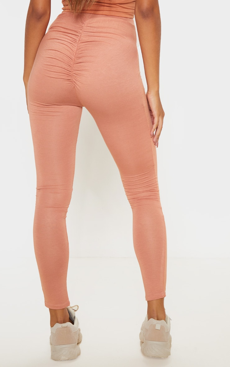 Chestnut Ruched Back Jersey Legging 4