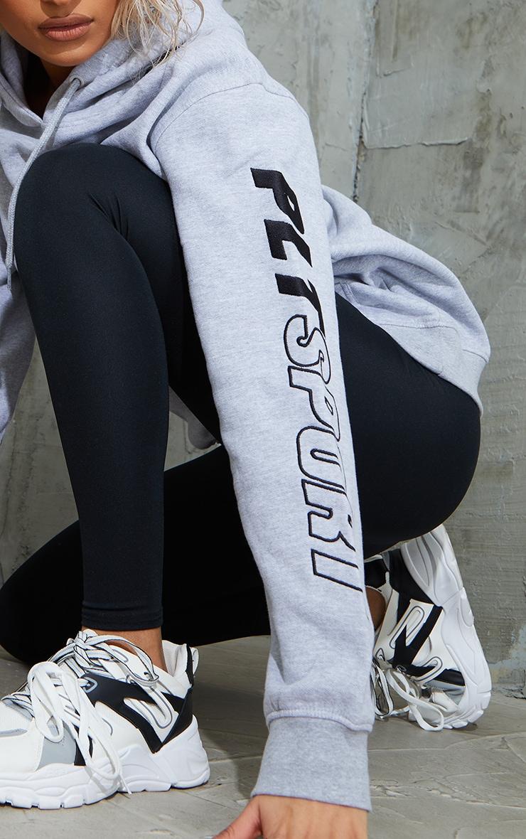 PRETTYLITTLETHING Grey Sport Oversized Hoodie 4