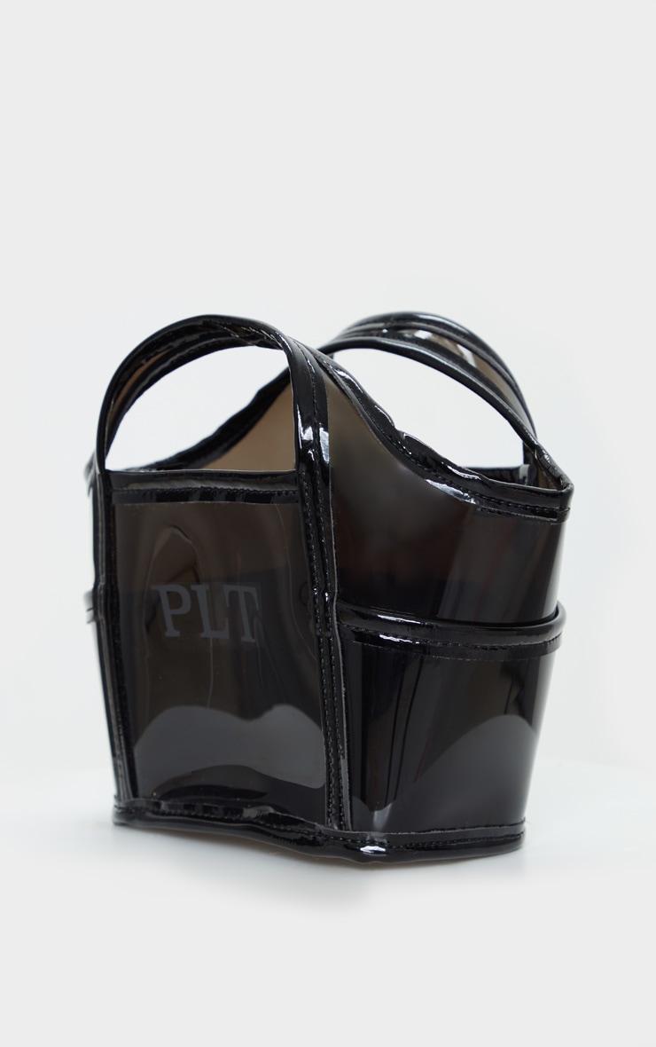 Black Plastic Bucket Bag 3