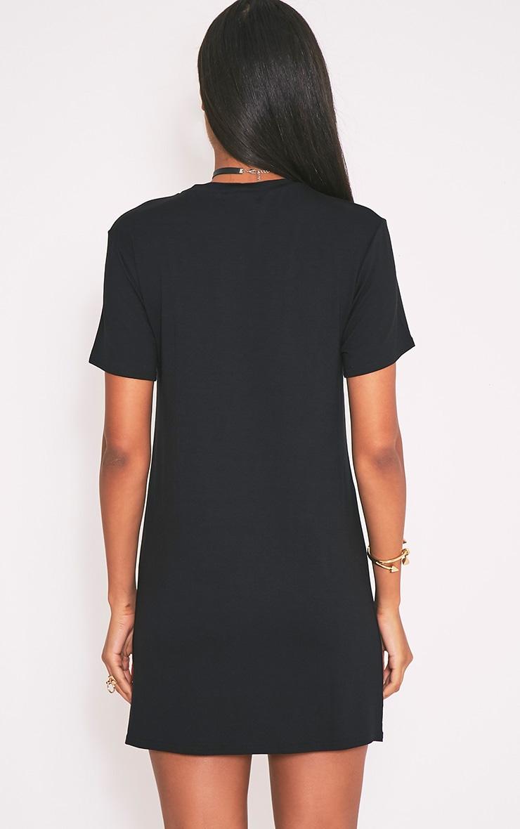 Robe t-shirt noire à imprimé Boob 2