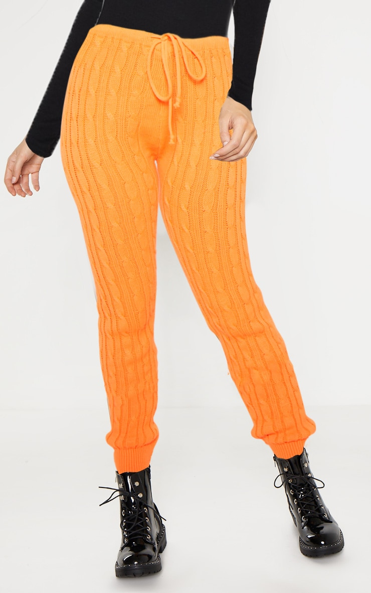 Bright Orange Cable Knit Jumper & Legging Set  4