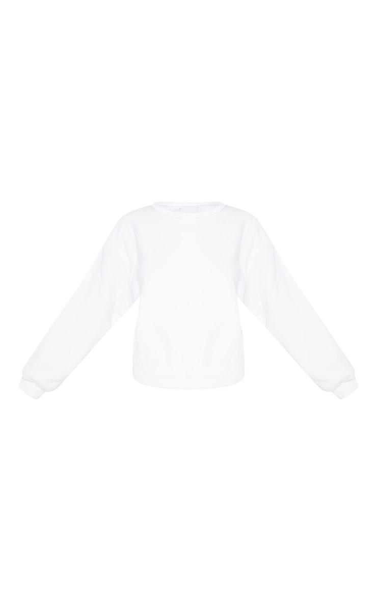 White Fleece Sweatshirt 5