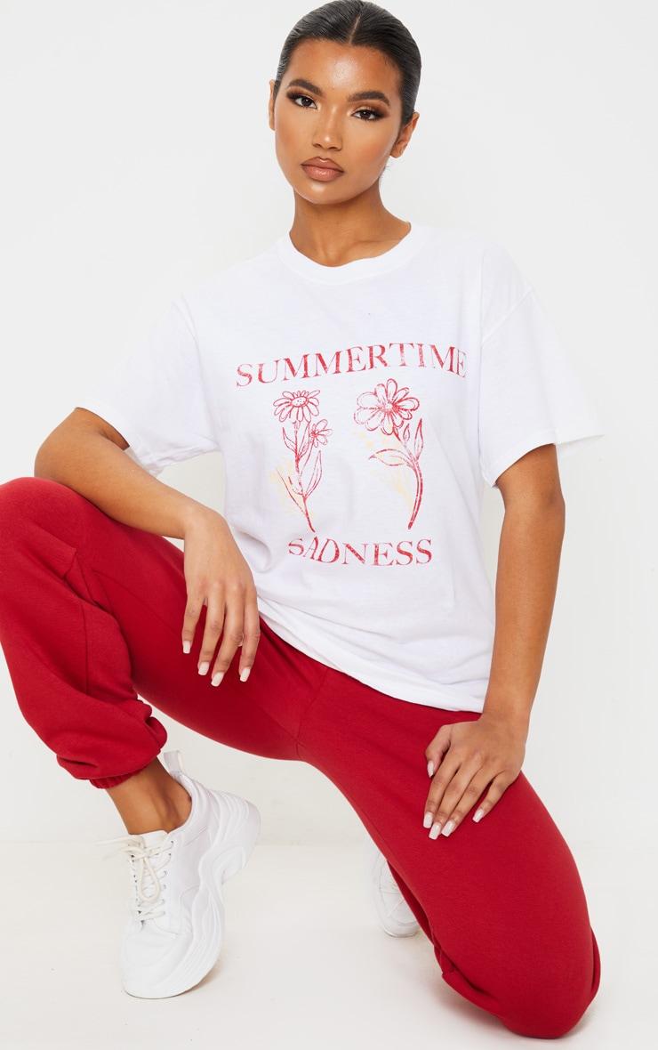 White Summertime Sadness T Shirt 4