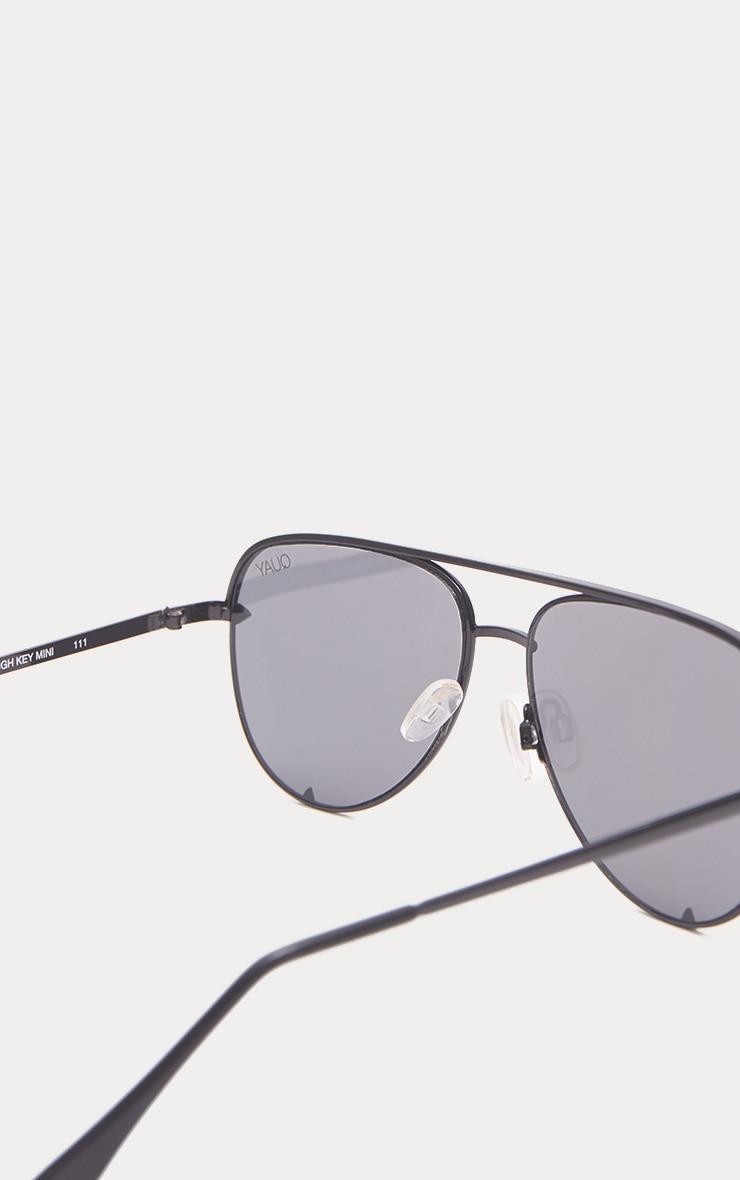 QUAY AUSTRALIA Silver X Desi High Key Aviator Sunglasses 3