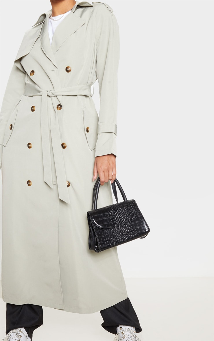 Pale Khaki Trench Coat 5