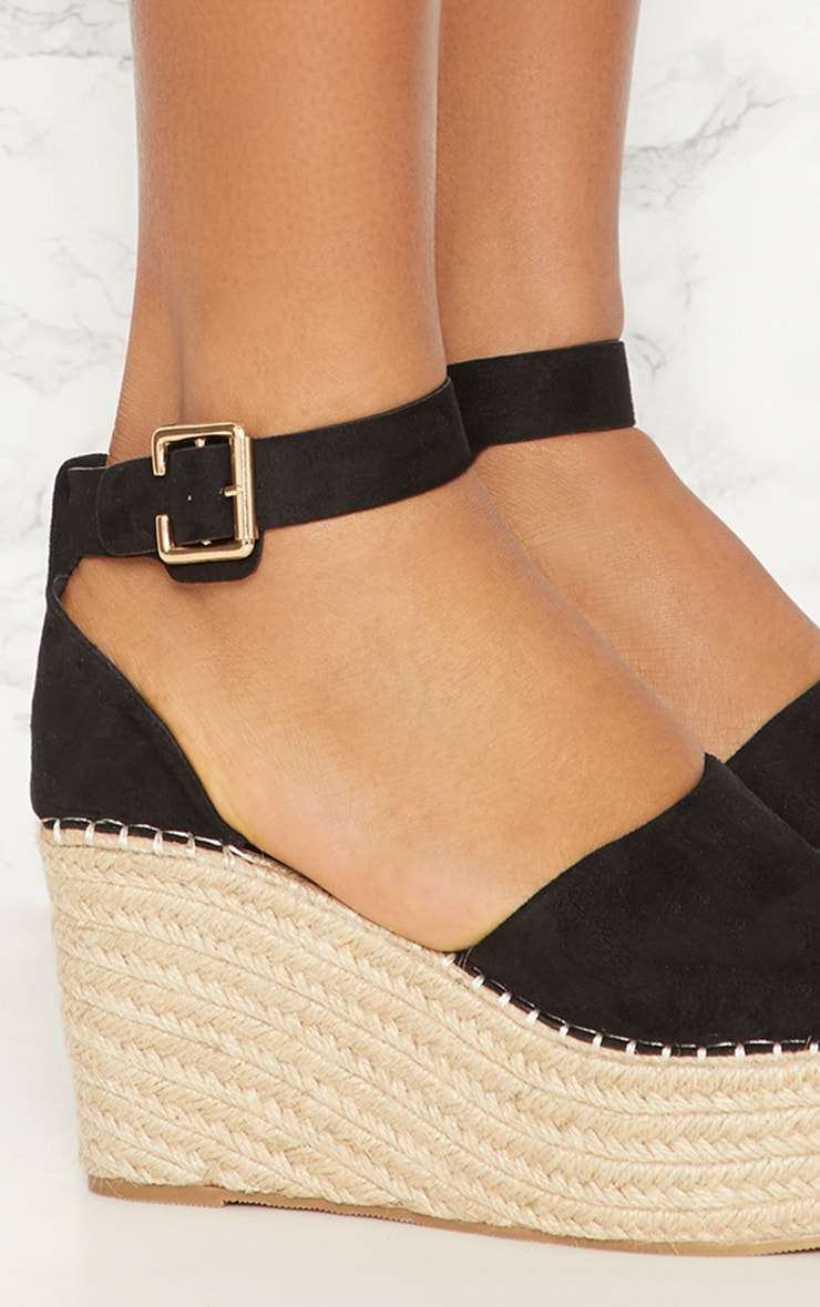 Black Espadrille Wedge 4