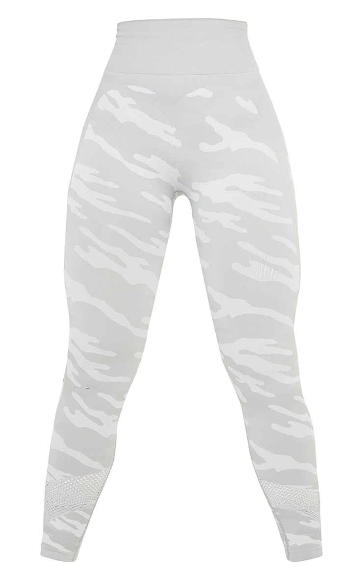 Grey Camo Seamless Gym Leggings 5