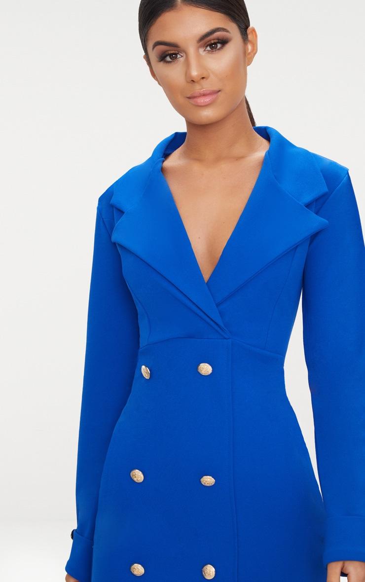 Cobalt Gold Button Detail Blazer Dress 5