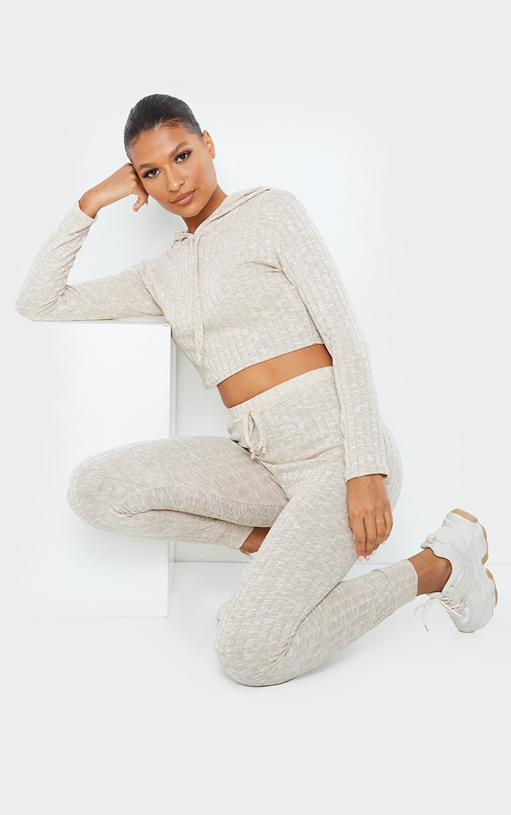 Stone Hooded Knitted Jogger Set 3