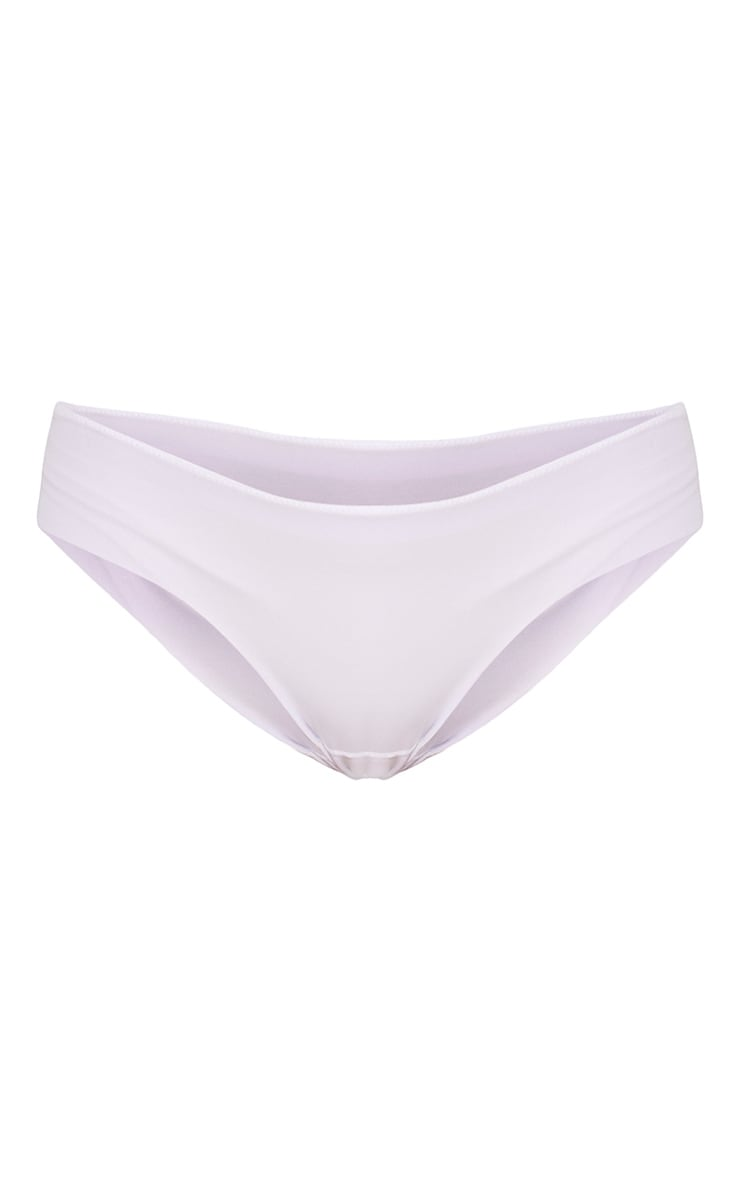 No VPL White Invisible Smoothing Thong 3